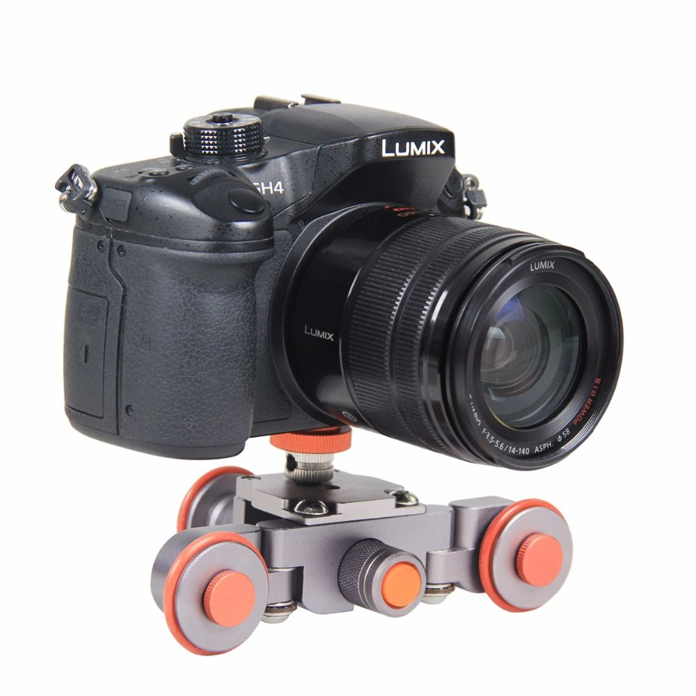 Mini Flexible Electric Video Dolly 3-Wheel Pulley Car Rail Rolling Track Slider Skater Dolly For Canon Nikon Sony DSLR Camera