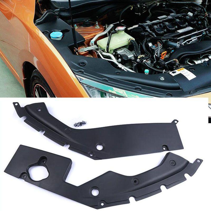 1 Paar Für Honda Civic 2016 2017 2018-Gen Motorraum Seite Panel Umfasst L + R Schwarz Motor hauben Decken Teile
