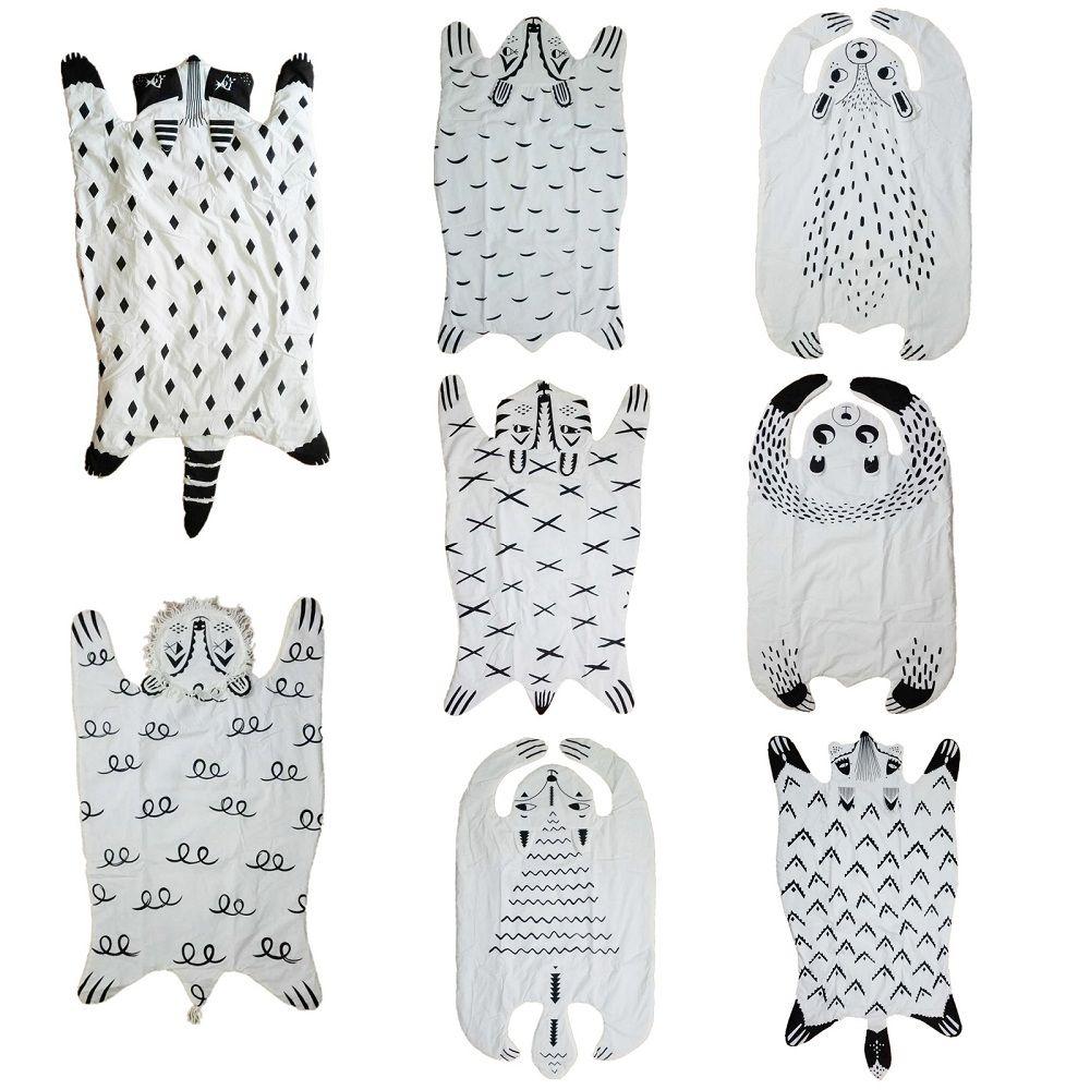Animaux de bande dessinée Raton Laveur Renard Tigre Ours Panda Lion Bébé Jeu Matelassé tapis Couverture Pad Tapis Tapis Nordique Style Enfants Bed Room Decor