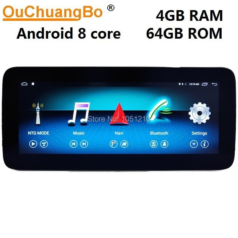 Ouchuangbo Android 9.0 gps radio navi für Mercedes Benz C 180 200 220 230 300 W204 2008-2014 8 core 4 + 64GB RHD Rechts fahren