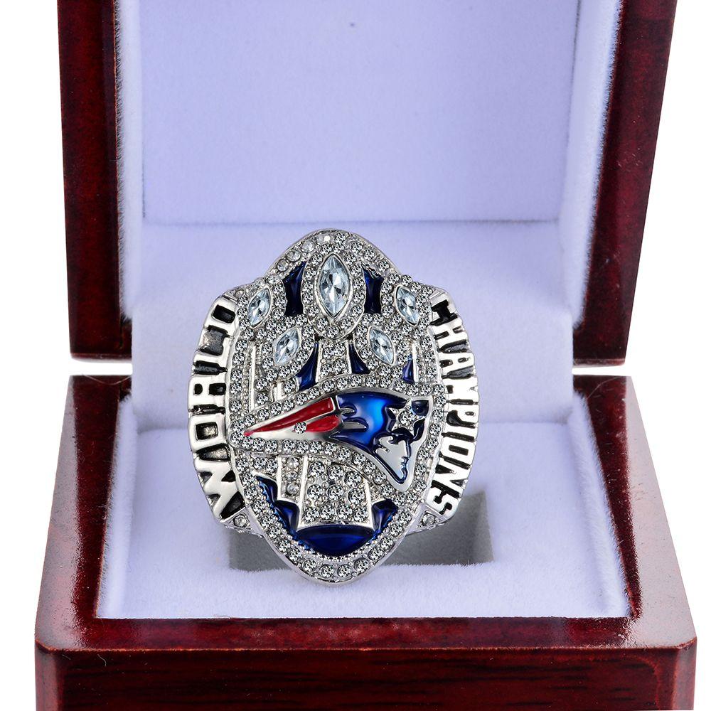 Dropshipping Replica 2017 patriots Super Bowl LI 2016 New England Patriots Tom Brady Number 12 Championship Ring Size 6-14