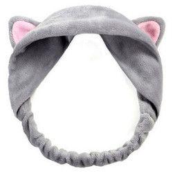 Elecool Cute Cat Telinga Ikat Kepala Hairband Sorban Spa Sabun Elastis Rambut Band Membungkus Aksesoris Alat Makeup