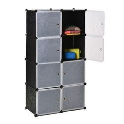 Homdox 8 Cubes DIY Armoire Placard En Plastique Garde-Robe L'organisation Placard Armoires pour Vente Placards Sur Mesure Manteau Placard N15A