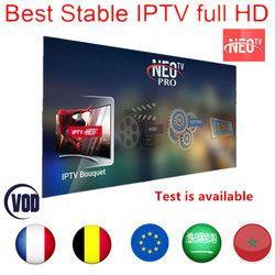 Neo tv pro IPTV abonnement français IPTV France Arabe Belgique 1300 + vivent en Europe android m3u enigmas2 abonnement smart iptv
