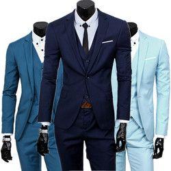 Blazers + pantalon + gilet ensemble/2018 Hommes de mode trois pièce costume ensembles/mâle d'affaires décontractée manteau veste gilet pantalon