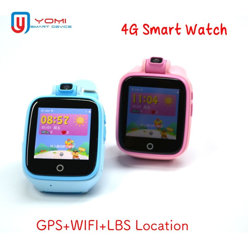 4G Smart Kids Watch Android IOS GPS WIFI LBS Locating Remote Monitor SOS History Route Voice Chat Baby Smartwatch with Camera