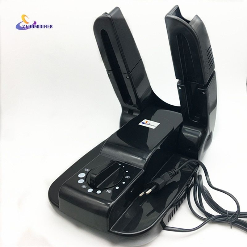 YJ HUMIDIFIER 220V Bake Shoe Device Drying Machine Sterilization Antiperspirant Folding Portable Electric Shoe Dryer shoes Black