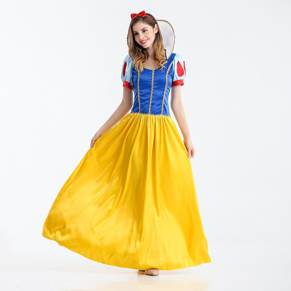 VASHEJIANG Kigurumi Snow White Princess Costume Adult Fantasias Feminina Princess Cosplay Women Sexy Halloween <font><b>Role</b></font> Play Costume