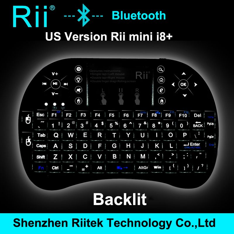 Бесплатная доставка Rii мини i8 K08 Bluetooth клавиатура сенсорная панель геймерская мышь Teclado для портативных пк HTPC Andorid / смарт-телевизор коробка