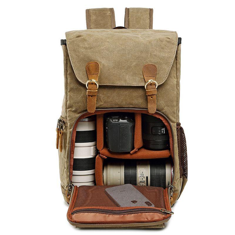 Batik toile sac de photographie étanche extérieur résistant à l'usure grand appareil Photo sac à dos hommes pour Nikon/Canon/Sony/Fujifilm