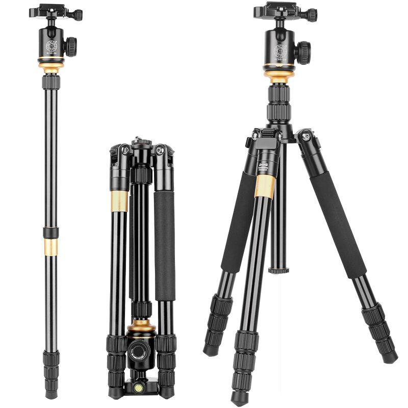 DHL free shipping Q999S kaamera statiivile aluminum digital camera tripod better than Q666 Q999 fit for camcorder folded 360mm