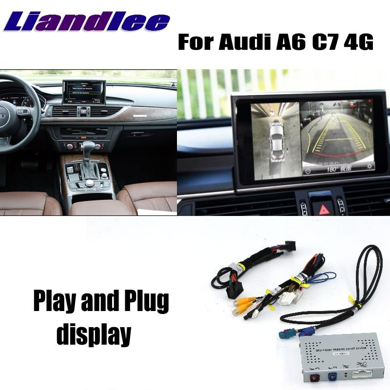 Liandlee Reverse Camera Interface Rear Backup Parking System Plus For Audi A6 C7 4G MMI Display Improve