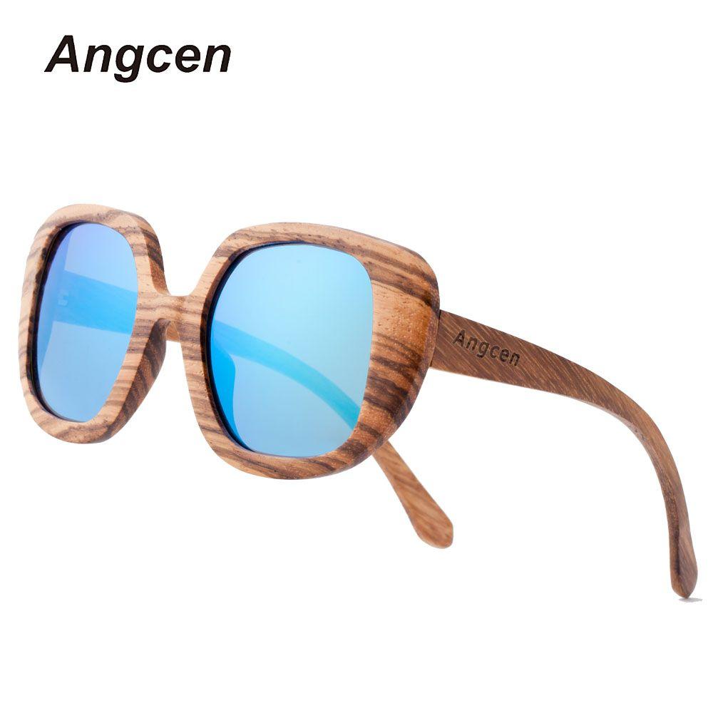Angcen En Bois lunettes de Soleil Hommes Marque De Luxe lunettes de Soleil Polarisées Hommes Miroir Clip sur Lunettes de Soleil Oculos De Sol BA98