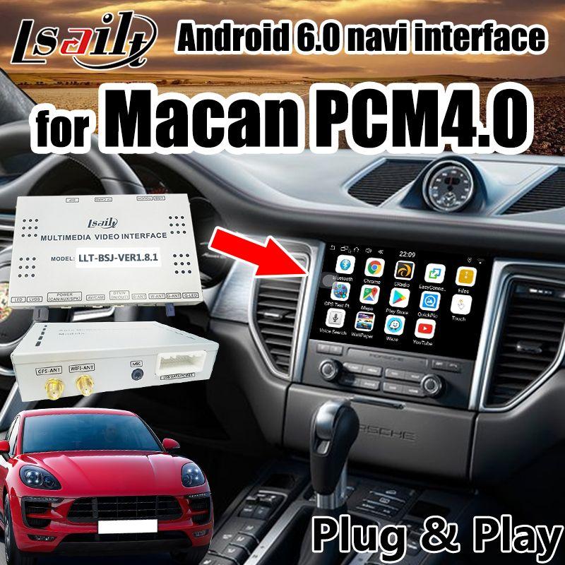 Plug & play Android GPS Navigation Box für Macan Porsche PCM4.0 2017-2018 Android Interface unterstützung drahtlose carplay durch lsailt