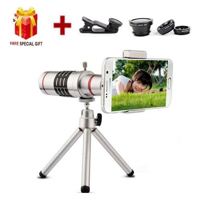 18X Zoom Optical Telescope With Mini Tripod Universal lens, compatible for all kinds of smartphone