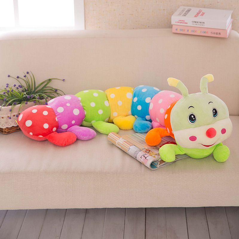 Mignon Doux de Bande Dessinée En Peluche Poupée Coloré Caterpillar Jouets Bébé de Couchage Oreiller Cadeau pour les Enfants Enfants 23.6in