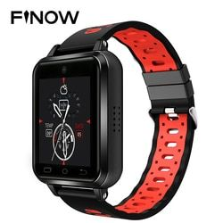 Finow Q1 Pro 4G Smart Watch Android 6.0 MTK6737 Quad Core 1 GB/8 GB Smartwatch Ponsel Heart Rate kartu SIM Perubahan Dukungan Tali 18 Mm