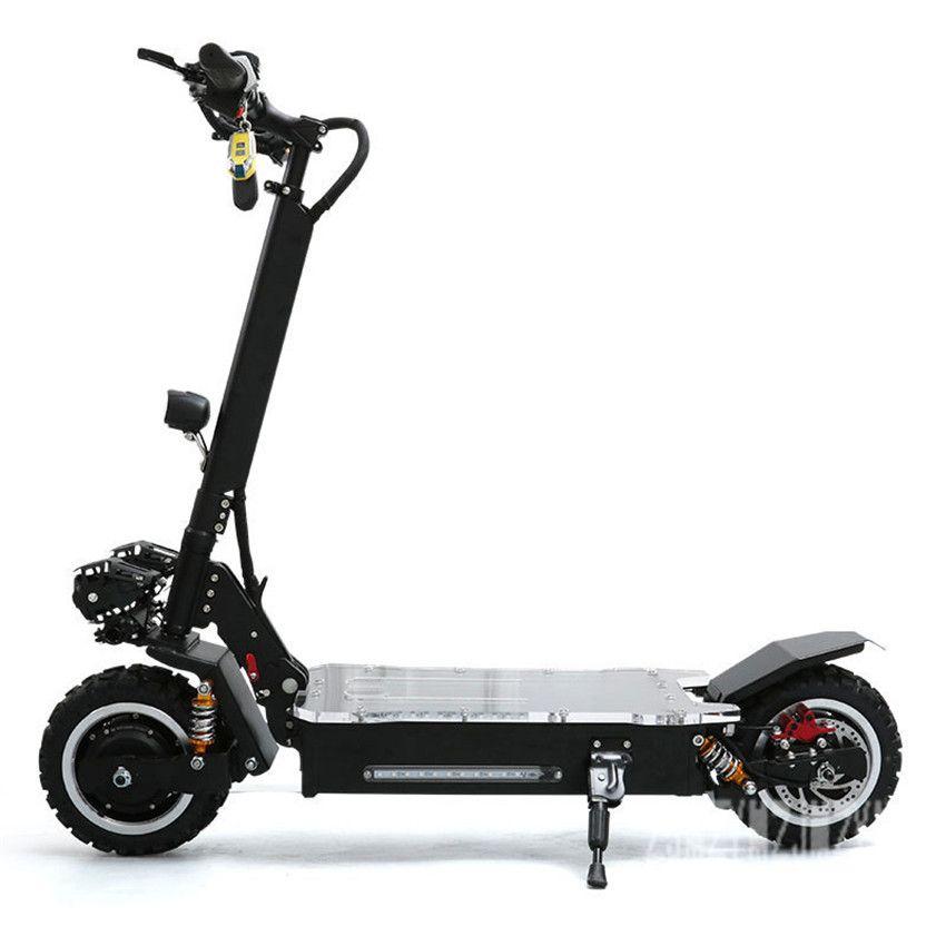 11 zoll rad Dual Stick 1600 W * 2 Elektro Off-road-Scooter Skateboard Elektrische Roller Mit Blinkende Nacht licht 60 V 20AH/25AH