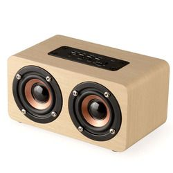 DOITOP Long Play time 3D Stereo Dual Loudspeakers Wooden Bluetooth HIFI Wireless Subwoofer Speaker Surround Speaker Support TF