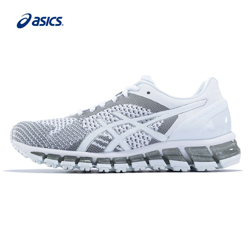 Original ASICS Women Shoes GEL-QUANTUM 360 KNI Breathable Cushion Running Shoes Light Weight Sports Shoes Sneakers