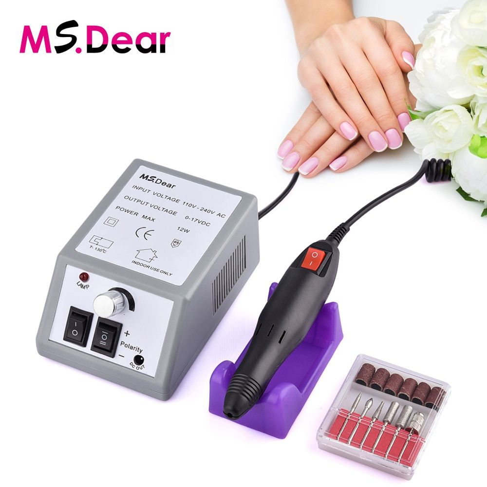 20000RPM Electric File Drill Nail Art Bit Professional Manicure Grinding Machine Pedicure Polisher Tools Adjustable Dropshipping