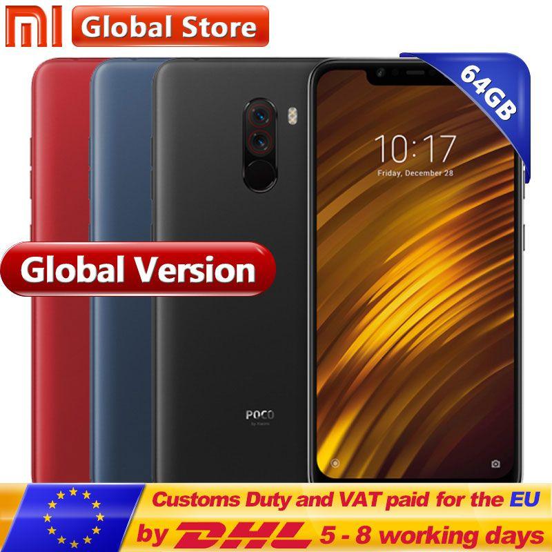 Global Version Xiaomi POCOPHONE F1 6GB 64GB POCO F1 Snapdragon 845 4000mAh Dual Camera 6.18 Full Screen Smartphone
