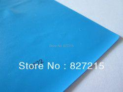 1,5/1,8 метров ширина #4072 светло-Синяя Прозрачная Натяжная потолочная пленка и ПВХ, эластичная, Потолочная пленка для малого заказа