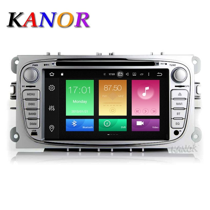 KANOR Octa Core IPS Android 8.0 4g 2 din Auto DVD GPS Für Ford Focus S-MAX Mondeo C-MAX Wifi GPS navigation Radio FM Multimedia