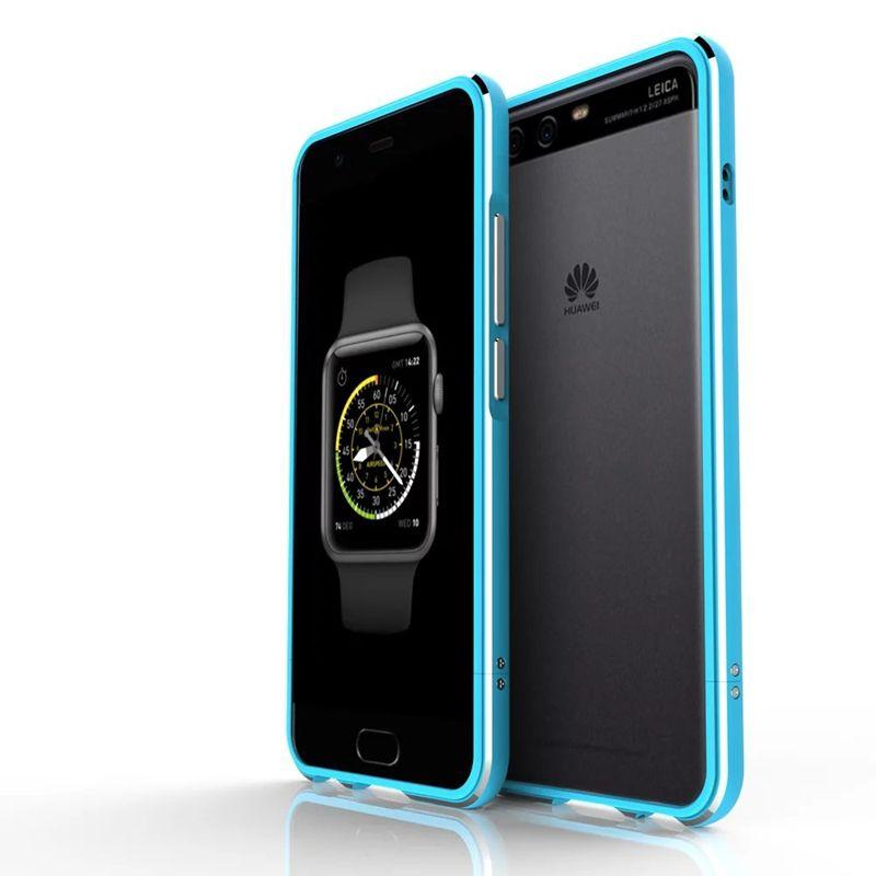 Luxury Mobile Phone Case For Huawei mate9 P10 PLUS P10 Lite Aurora Metal Bumper Case for Samsung S8plus Metal Case Cover