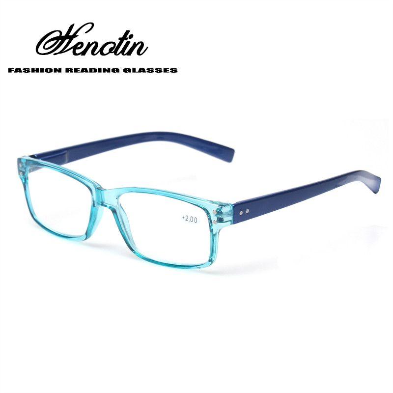 2018 mode clair en plastique hommes et femmes lunettes de lecture rectangulaire printemps charnière lumière couleur lunettes presbyte lunettes
