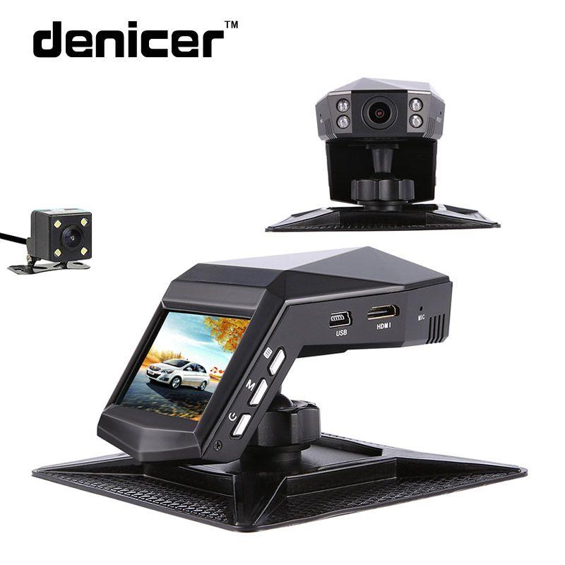 Novatek 96658 Car DVRs 170 Degree Car DVR With Rear View Mirror Camera Full HD 1080p Registrar Car 30Fps Video Recorder Mirror