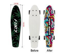22 inch Penny Board Sticker Anti Slip Sandpaper Skateboard Special Design Wear Resisting Replace Banana Single Double Rocker