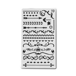 1 Pc Bullet Journal Pochoir En Plastique Pochoirs Journal/Notebook/Journal/Album Creux DIY Fournitures de Bureau de Papeterie Scolaire #19