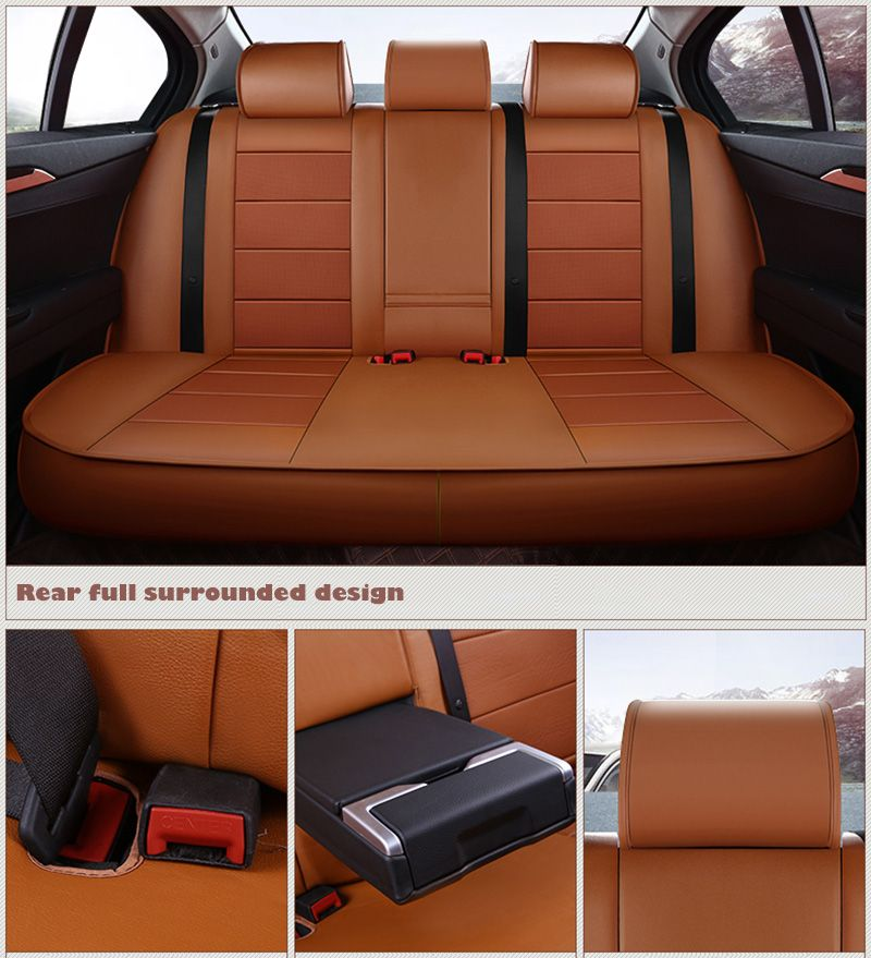 Cowhide custom car seat cover Leather For Volkswagen VW Magotan Golf Tiguan Scirocco Touareg Phaeton Beetle Caddy car styling