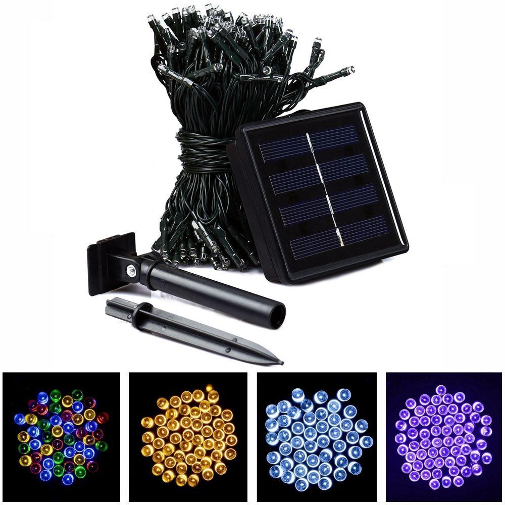 22M 200 LED Solar Strip Light Outdoor Lighting Solar Led String Fairy Lights Waterproof For Wedding Christmas Party Garden Light