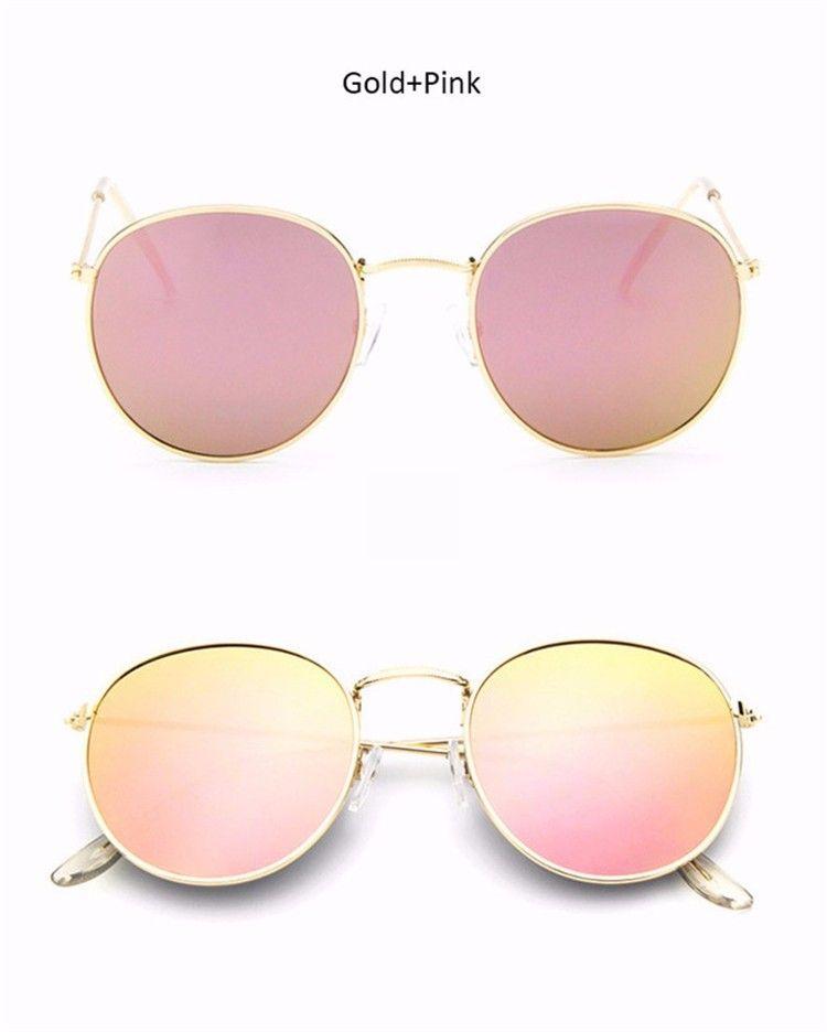 Luxury Round KF135-151 Sunglasses Women Brand Designer 2018 Retro Sunglass Driving Sun Glasses For Sunglass Mirror