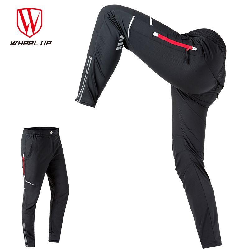 WHEEL UP Spring Autumn Men Cycling Pants Long Sport Pants Mountain Bike Pants Reflective Cycling Long Trousers bicycle pants Men