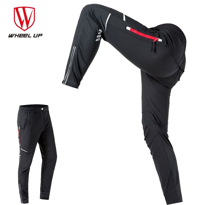 WHEEL UP Spring Autumn Men Cycling Pants Long Sport Pants Mountain Bike Pants Reflective Cycling Long Trousers bicycle pants Men