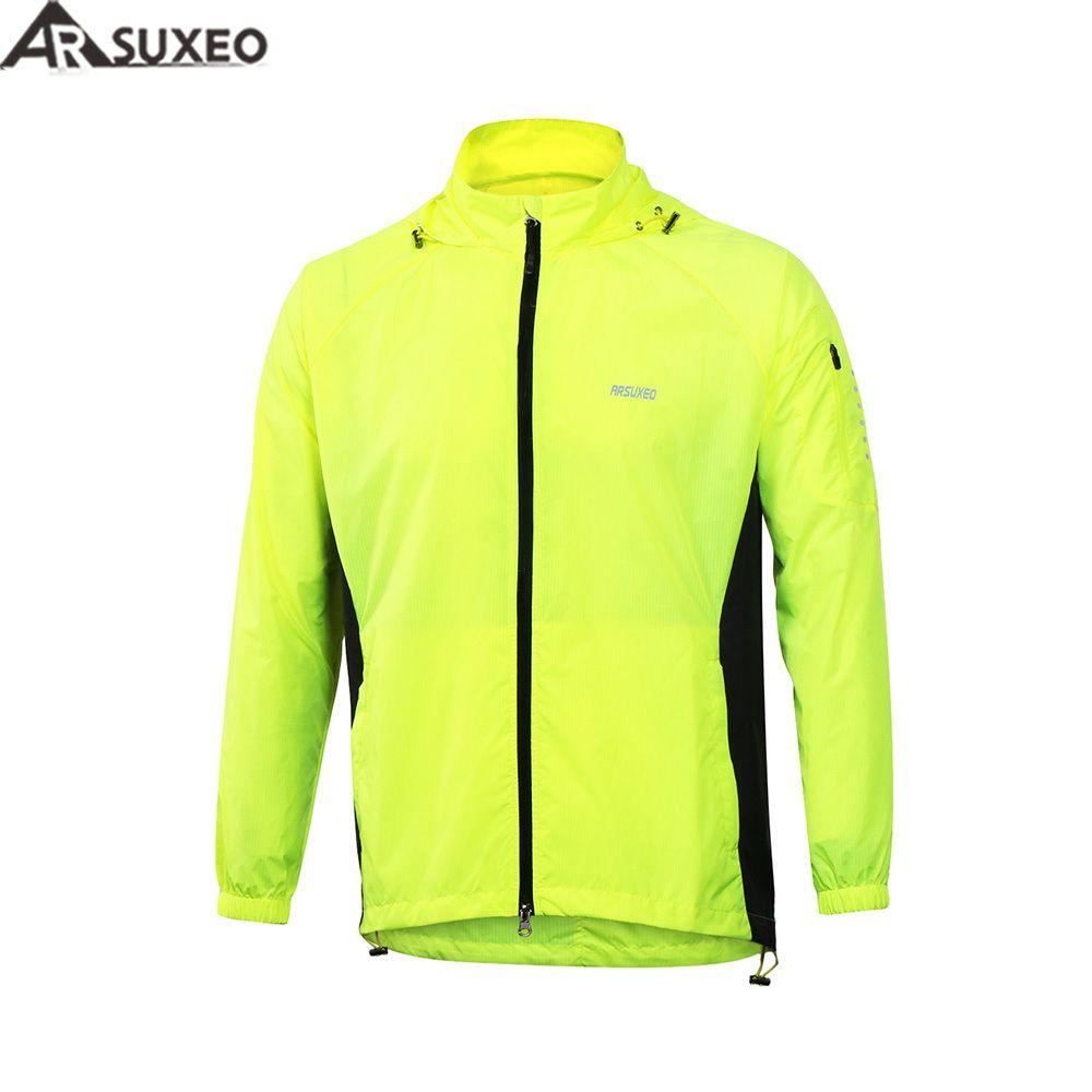 2017 ARSUXEO Männer Outdoor-sportarten Laufen Jacke Winddicht Wasserdichte Packung Radfahren Fahrrad Jacke Kleidung mantel kleidung M17C1
