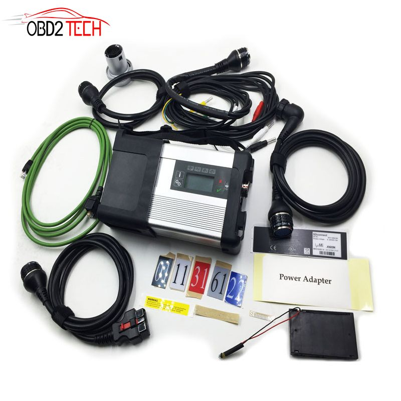 MB SD Star C5 SD Connect Compact 5 Star Diagnosis with WIFI for Cars and Trucks Multi-Langauge without Software HDD