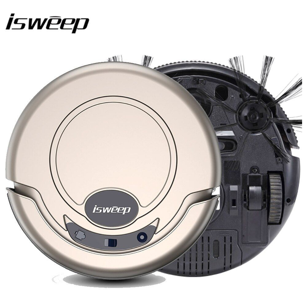 Isweep Vacuum Cleaner <font><b>Robot</b></font> for Home 1000PA Dry and Wet Mopping Smart Sweeper S320