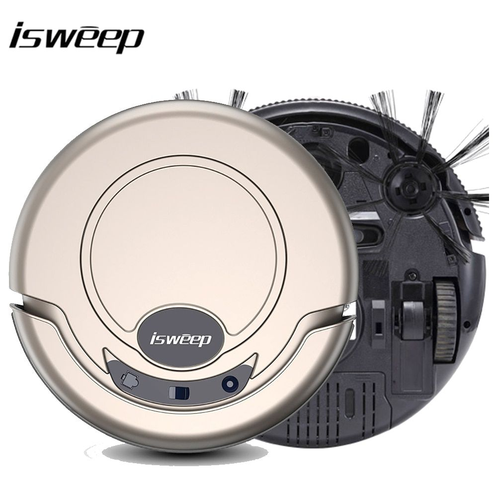 Isweep Vacuum <font><b>Cleaner</b></font> Robot for Home 1000PA Dry and Wet Mopping Smart Sweeper S320