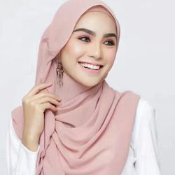 Besar 6 Warna Syal Muslim Islamic Kepala Jilbab Polos Warna Solid Memakai Slip Nieuwe Vrouwen Moslim Selendang Topi Underscarf 180 cm
