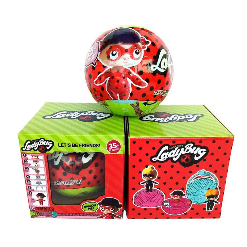 New Arrival Ladybug Toys LOL Dolls girls cartoon lol doll Hatching Egg Ball Animals Toys Action Figures Girls Christmas Gift