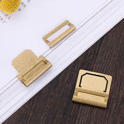 6 unids/lote cobre retro metal latón índice abrazadera etiqueta papelería clips 6 unids/Memo tarjeta clips