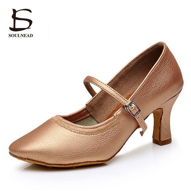 2019 chaussures de danse latine pour femmes Tango chaussures femmes talons moyens moderne Salsa chaussures de danse de salon femmes chaussures talons 5 cm