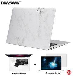 DOWSWIN pour macbook air 13 cas 13.3 pouce PC Marbre Motif + retour cas de couverture pour macbook air 13 pour macbook pro 13 15 12 retina