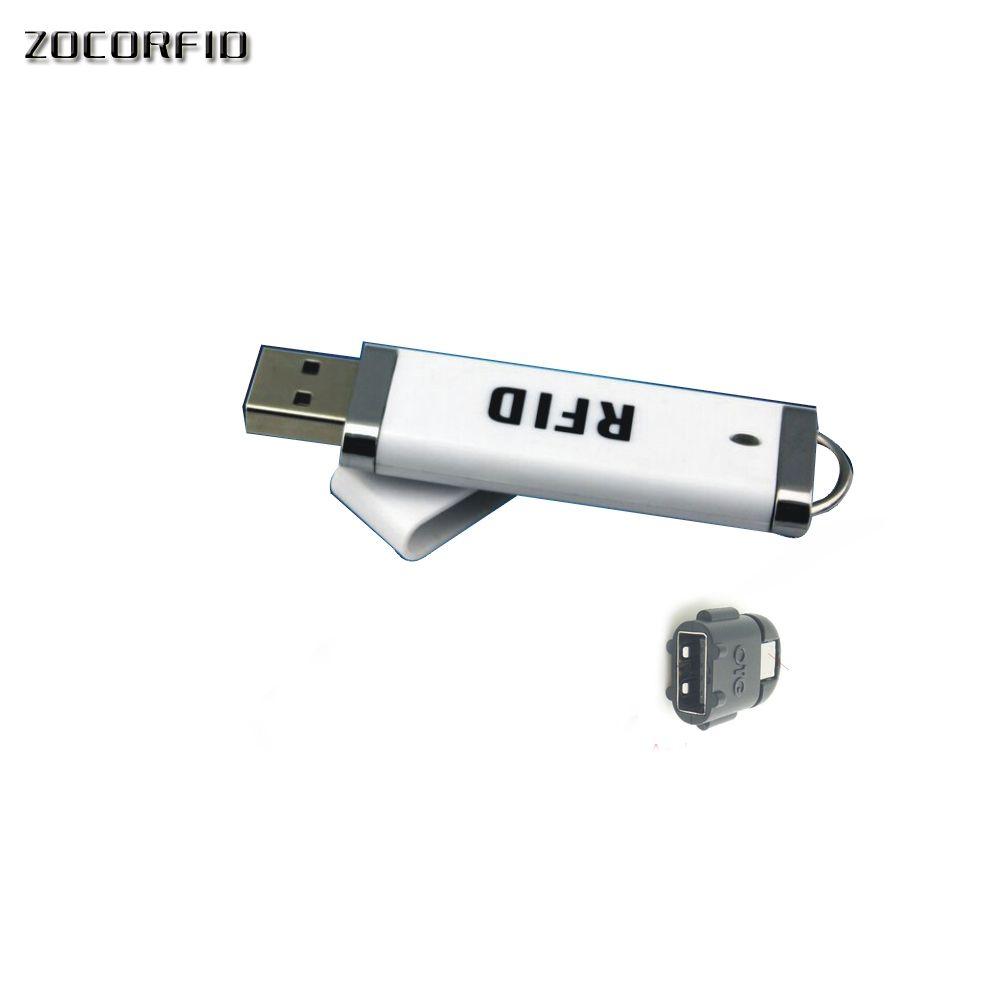 Le plus récent MIni lecteur de carte à puce de proximité sans contact USB RFID 125 KHZ EM4001 prend en charge Windows/android/i-payé + 1 cartes