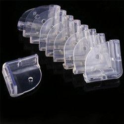 10 pcs/ensemble L Forme et Sphère Forme Enfants Bébé Table Coin Protecteurs Transparent Anti-Collision Angle Cabinet Tirage Bord gardes
