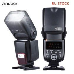 Andoer ad-560 II Cámara flash speedlite con luz ajustable LED flash universal para Canon Nikon Olympus Pentax cámaras